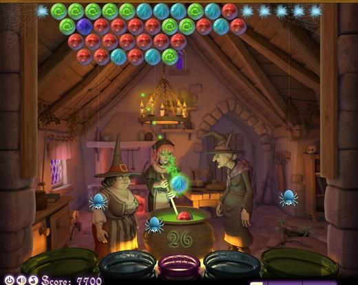 Juego Bubble Witch Saga puzzle de estrategia