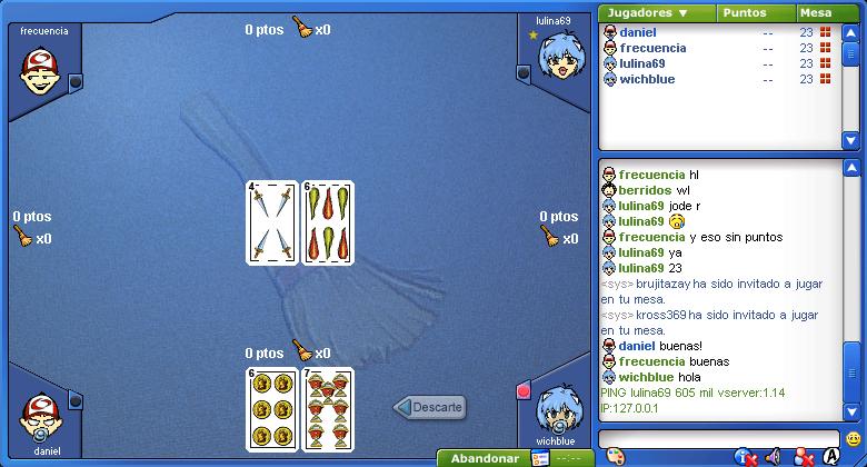 Escoba de 15, juego online