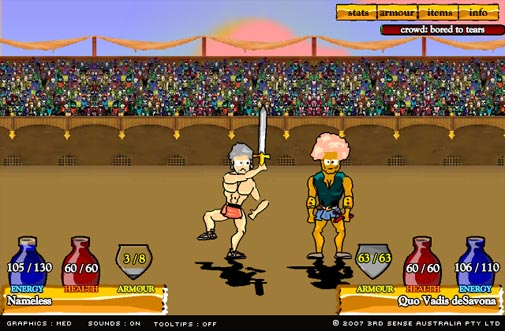 Swords and sandals juego de lucha gratis