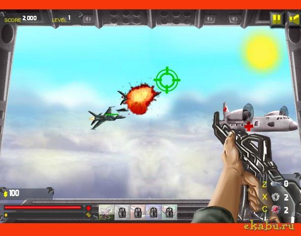 Juego de tiros en el aire con Sky fighters