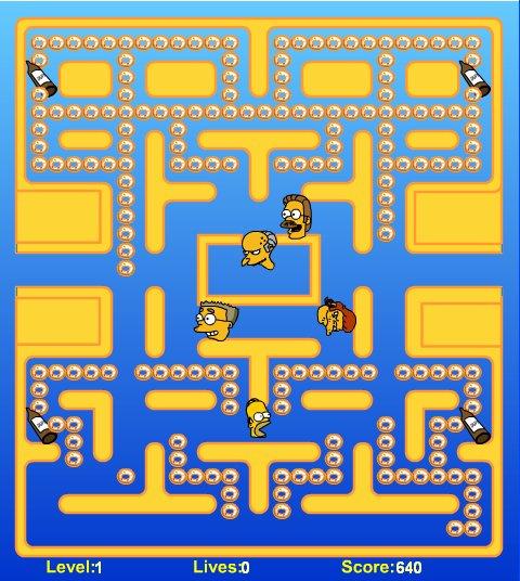 Juego de Simpsons estilo Pacman online