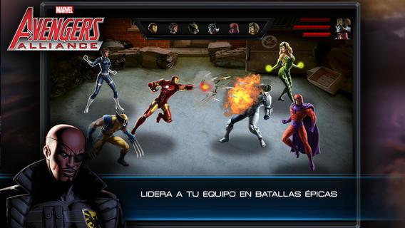 Juego de Avengers Alliance en iOS