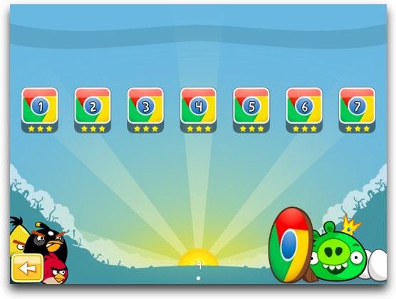 Angry Birds, juego para Chrome