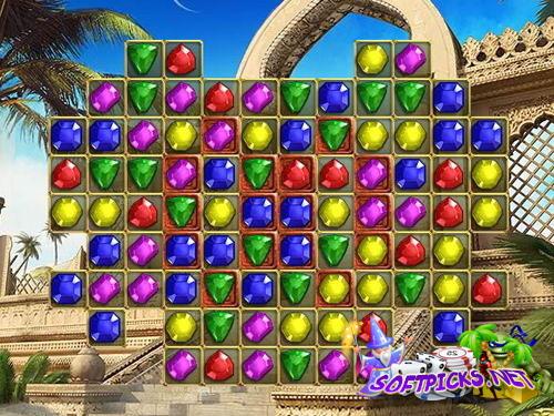 Juego de puzzle con joyas en Persia
