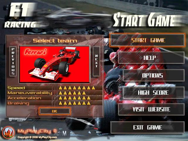 Jugar Formula 1 Racing en flash