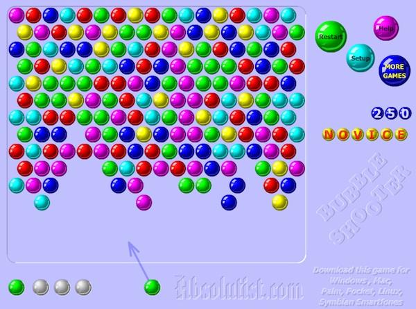 Juego Shooter bubble de puzzle