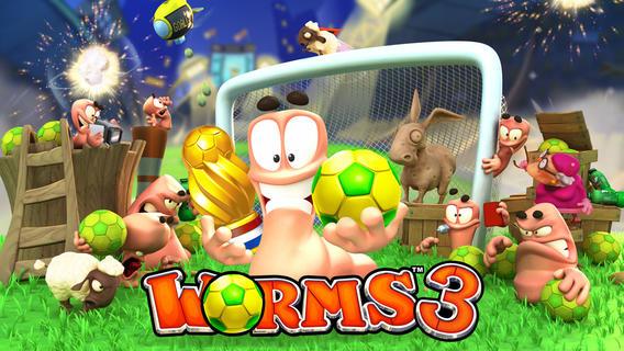 juego de worms 3 en iOS