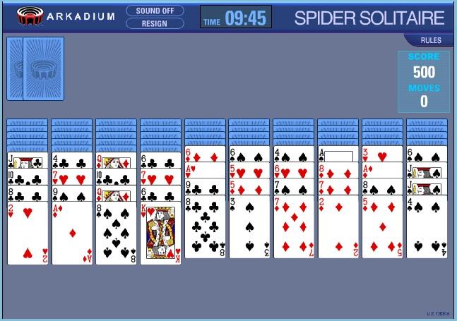 Jugar en internet solitario spider