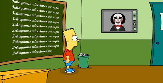 Juego de Saw con Bart Simpson