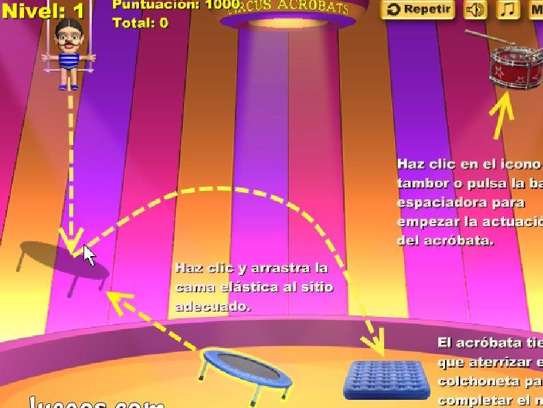 juego acrobacias y circo online