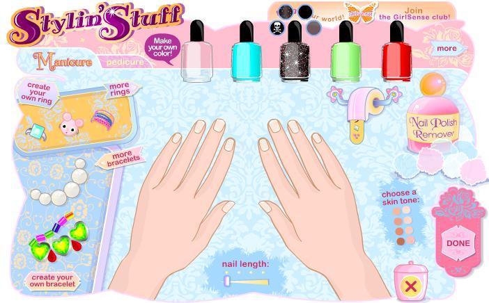 manicura para chicas online, juego flash