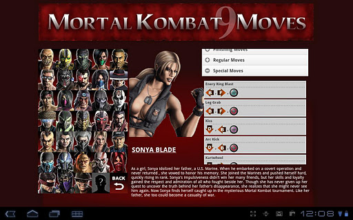 Mortal Kombat Moves